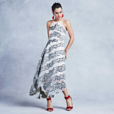 New COAST Josie Ivory Silver Gold High Low Evening Maxi Dress Ball Gown 16 £195