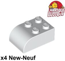 Lego - 4x Brique Brick Modified 2x3 with Curved Top blanc/white 6215 NEUF