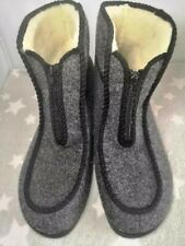 MENS 100% NATURAL WOOL/FELT SLIPPERS BOOTS SHOES ZIP ALL SIZES
