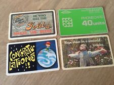 PHONE CARDS FROM 1980S X4