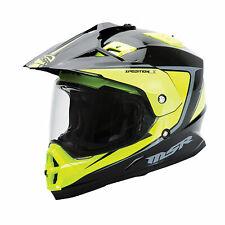 MSR Xpedition LX Motorcycle MED Helmet Hi-Vis / Black Adult Size Medium