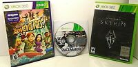 Lot of 3 XBOX 360 Games SPACE MARINE, KINECT ADVENTURES! & SKYRIM