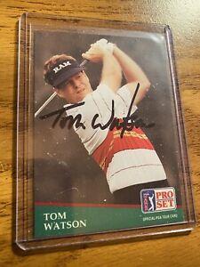 TOM WATSON autographed  1991 PROSET PGA TOUR Card #41