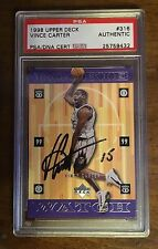Vince Carter PSA/DNA Autographed Rookie Card 1998 Upper Deck Autograph Signed