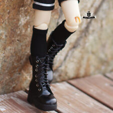 1/4 BJD Shoes MSD Dollfie DREAM Black leather Boots MID DOD SOOM AOD Dollmore DZ