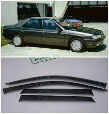 For Peugeot 605 Sd 1989-2000 Side Window Visors Sun Rain Guard Vent Deflectors