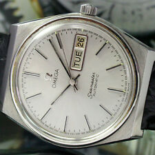 Omega Seamaster Automatic Quick Set Day Date Steel Mens Vintage Watch