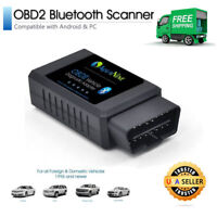 Bluetooth OBD2 Scanner Adapter OBDII Diagnostic Tool Code Reader Torque ELM327