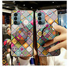 For OnePlus Nord N200 N10 8 7T 6 Glass Patterned Case Kickstand Cover With Strap
