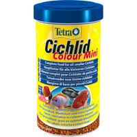 Tetra Cichlid Colour Mini Pellets 170g Complete Fish Food Colour Enhancer