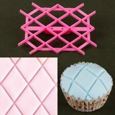 DIY Sugarpaste Craft Icing Baking Quilt Cake Fondant Cutter Embossing Mold NEW S