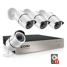 ZOSI HD 1080P 4CH POE NVR 1TB HDD 2MP Outdoor IP Network Security Camera System