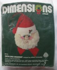 Dimensions Santa Claus Crewel Christmas Ornament Craft Kit