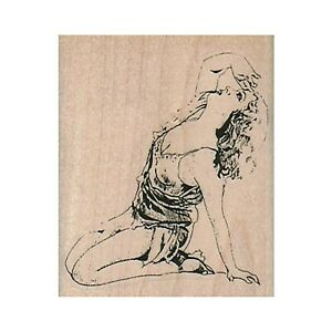 Mounted Rubber Stamp, Distraught Lady, Exhausted Lady, Tired Lady, Dramatic Lady