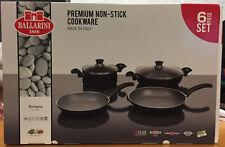 Ballarini Bologna Premium 6 Piece Cookware Set Pot Pan Set Aluminium Induction
