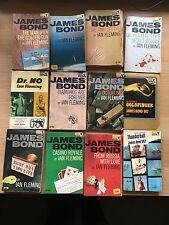 12X James Bond Ian Fleming PAN books  1950s/1960s very rare!