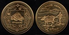 2 Rupee Coin current NEPAL Mt Everest  UNCIRCULATED  REVERSE: Plowing Oxen