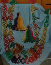 Vintage Paper Christmas Decorations Honeycomb Bells Garlands Paul Jones 1950-60s