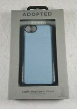 New Adopted Leather Wrap Case For iPhone 5 Moonlight / Silver - Free Shipping