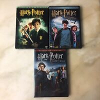 Harry Potter DVD Lot 3 Chamber of Secrets, Goblet of Fire, Prisoner of Azkaban