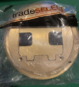 HUBBELL TRADE SELECT RF406BR SOLID BRASS FLOOR BOX TRIM KIT NEW