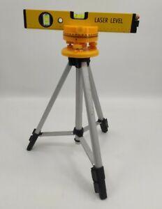 Laser Level & Adjustable Tripod Base 100cm 1m Extendable Legs DIY Exc. Condition