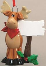 MOOSE Personalized Christmas Tree Ornament