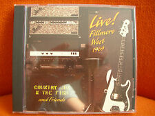 CD – COUNTRY JOE & THE FISH : LIVE FILLMORE WEST 1969 – US PSYCH BLUES VANGUARD