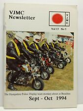 Vintage Japanese Motorcycle Club VJMC Newsletter Vol 13 5 September October 1994