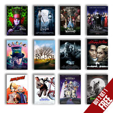 Best Tim Burton Movie Posters A3/A4 Taille Brillant Art Imprimé Mural Décoration