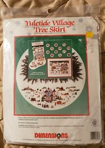 Yuletide Village Tree Skirt~Dimensions Counted Cross Stitch Kit~#8418~New