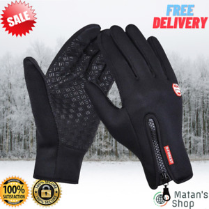 Bicycle Camping Cycling Ski Outdoor Thermal Touchscreen Unisex Winter Gloves NEW