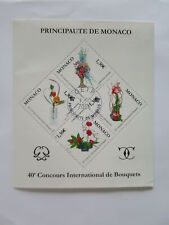 MONACO 2006 NICE SHEET CTO FLOWER COMPETITION/cw702