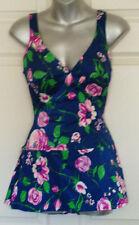 Vintage Roxanne Floral Swimsuit Bathing Suit Perfection Fit Size 14 / 36