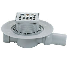 VIEGA SQUARE POINT FLOOR WETROOM SHOWER DRAIN stainless steel 100x100mm 557 119