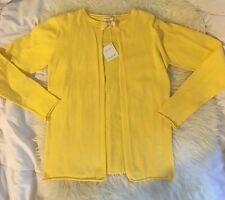NWT ANAIS & I DESIGNER BOUTIQUE~STEPHANIE CARDIGAN SWEATER~LEMON ~SIZE 16 ~$104!