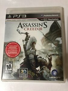 ASSASSIN'S CREED III PLAYSTATION 3 Manual Included