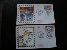 FRANCE - 2 enveloppes 1er jour 1995 (automobile club-organi onu) (cy21) french