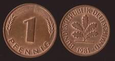 GERMANIA GERMANY 1 PFENNIG 1981 D