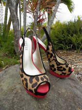"Guess ""Glenisan"" Leopard Print Pony Hair Heels"