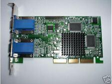 MATROX  G450  Dual VGA Monitors AGP Graphics Card with drivers on CD