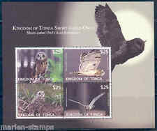 TONGA  2012  'OWLS '  SHEET MINT NH THESE HAVE EXTREMELY HIGH FACE VALUE