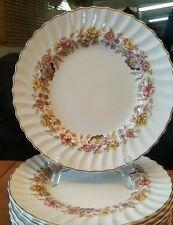 Four Vintage Diner Plates Royal Doulton Vintage Mayfair Bone China H4897