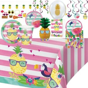 Pineapple Friends Tropical Summer Party Supplies Tableware Decorations Balloons