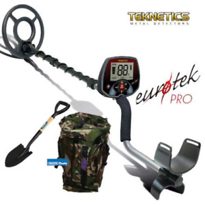 Teknetics metal detector  EURO TEK PRO + Pala Draper + Zaino Trekking