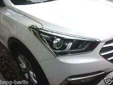 Accesorio para Hyundai Santa Fe 2015-2017 Cromo Marcos de Faros Molding