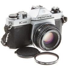 ASAHI PENTAX K1000 35MM SLR FILM CAMERA & SMC PENTAX-M 50MM F2 LENS - VERY GOOD