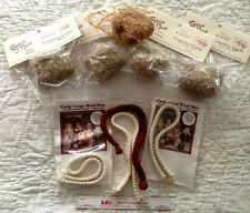 lot of 9 assorted DOLL MAKING HAIR WIG curls wool braids santa beard roving NEW