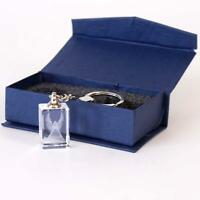 Guardian Angel Crystal Keyring - 3D Laser Cut Glass Small Cute and Boxed