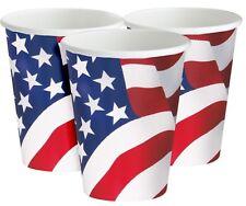 Américain USA Drapeau Juillet 4th Fête Célébration Papier Tasses Vaisselle Déco